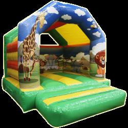 Chateau gonflable safari
