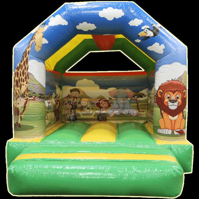 Château gonflable thème jungle